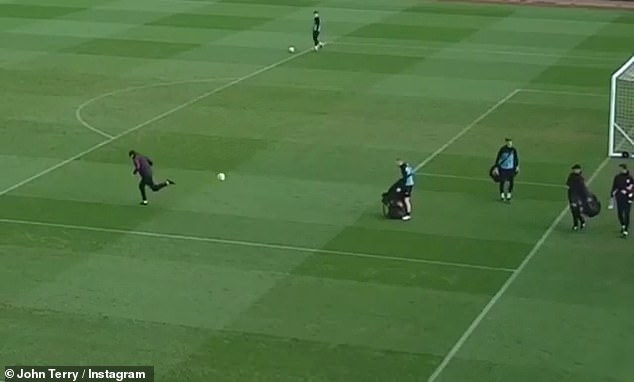 The villa's assistant coach, Terry, made a heel strike on his heel as he picked up his balls