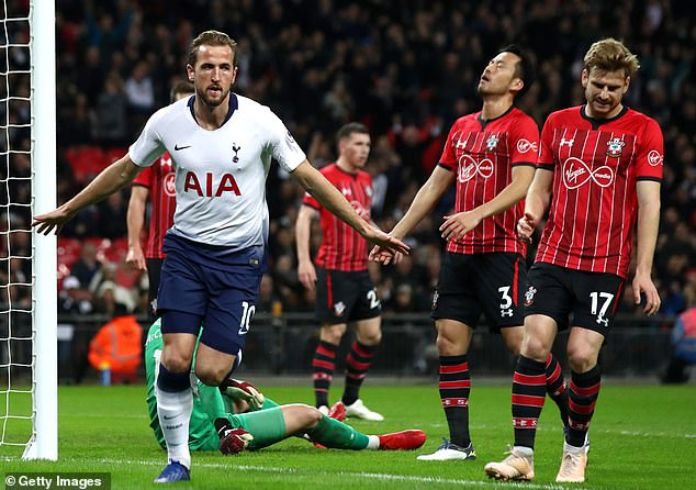 Harry Kane struck as Tottenham saw off a spirited Saints side 3-1 in the Premier League clash