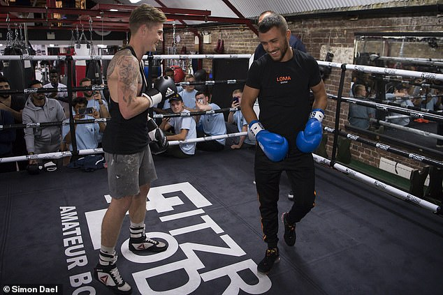 Lomachenko teaches some young fighters from London