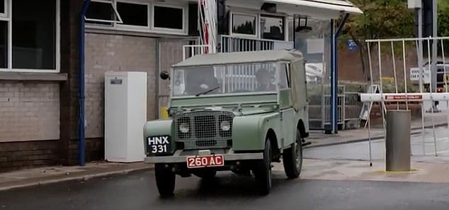 The current owner of Land Rover number 16 is Mike Bishop, who works for the classic division of the company. Dorothy showed him her photograph at a Land Rover party and arranged to get her back in the car