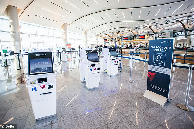 Customers click 'Look'  at kiosks, or approach the camera at ticket counters, when boarding or going through security. After a green check mark appears, they're able to proceed
