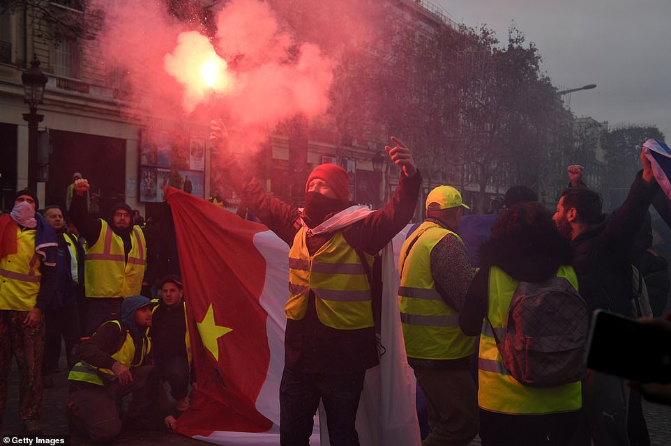 The protests, named after the high-visibility safety jackets French motorists have to keep in their cars, erupted in November over the squeeze on household budgets caused by fuel taxes. Demonstrations have since swelled into a broad, sometimes violent rebellion against Macron, a challenge made more difficult to handle since the movement has no formal leader