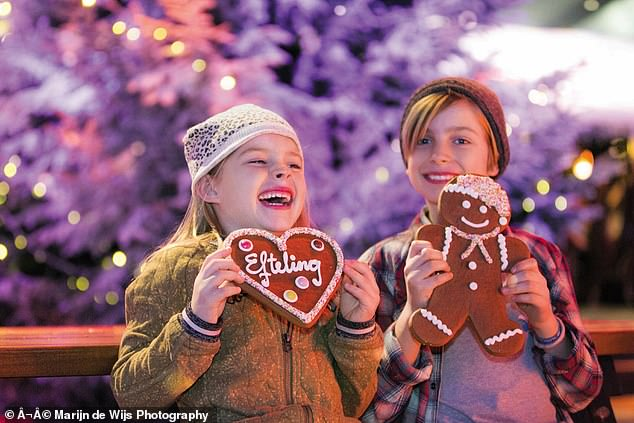 Winter Efteling runs from November 12 to January 31 (stock image of children at the festival)