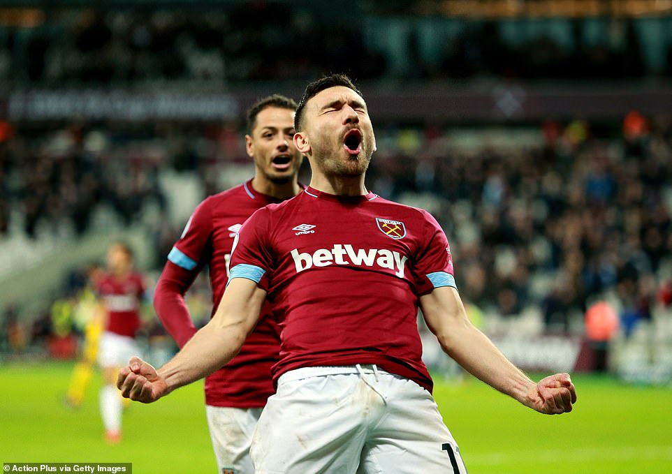 Robert Snodgrass celebrated his goal fishing after rewinding West Ham on equal levels 20 yards out
