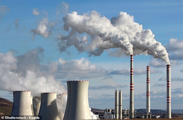 The raised levels of carbon dioxide would be driven by the burning of fossil fuels. Stock image