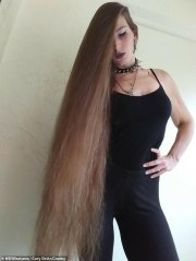 real-life rapunzel with 3.5-feet-long