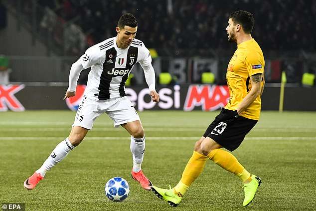 Cristiano Ronaldo missed several chances on a disappointing night for the Serie A side