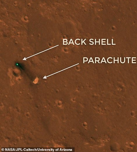 While the space agency knew that InSight had landed on an ellipse of 130 miles (81 miles) on the red planet, there was no way to determine exactly where it had landed in this region .