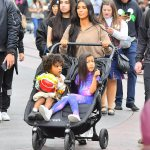 Kim Kardashian celebrates Nephews Birthday in Disneyland