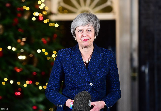 Theresa May put a brave face on her situation on Wednesday as she reacted to the outcome of the Tory no-confidence ballot