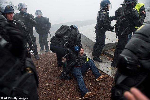 There were 168 arrests in Paris on Saturday alone as the demonstrators fought running battles with police, who responded with water cannon, baton charges and tear gas