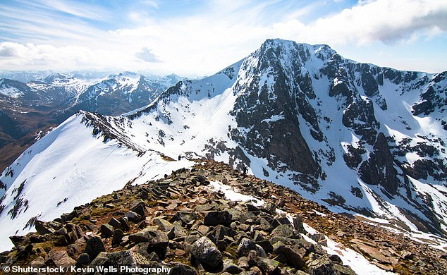 Previous deaths: Two students were scaling Tower Gully on Ben Nevis whenan overhanging ledge of snow collapsed and knocked them down the mountain (file picture)