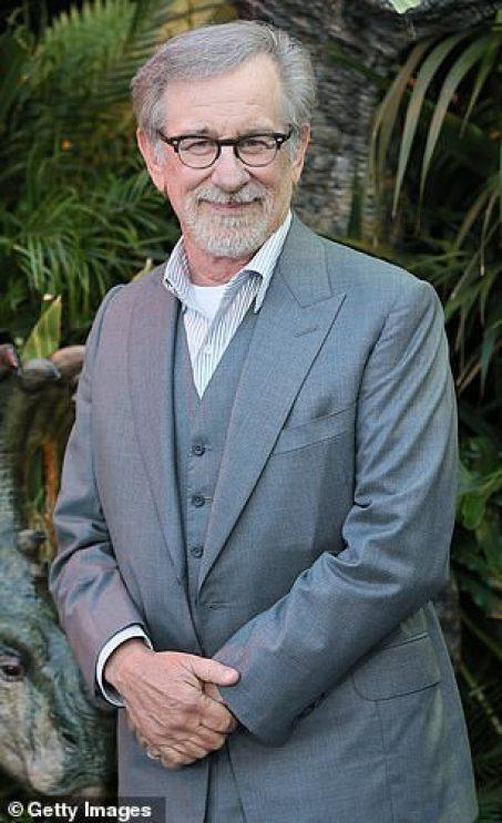 Dino-mite: Spielberg attended the premiere of Jurassic World: Fallen Kingdom in Los Angeles in 2018