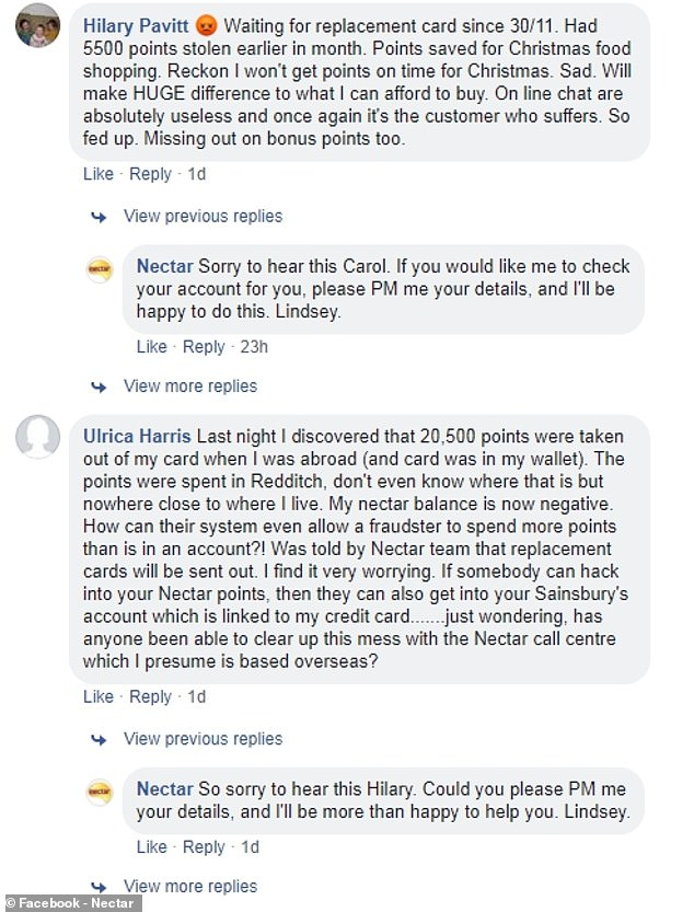 More Nectar users complain of points being stolen in run ...