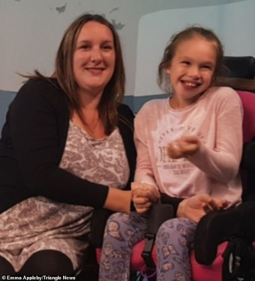 Her motherEmma Appleby, 35,  fought hard for Teagan(pictured before) to get cannabis oil