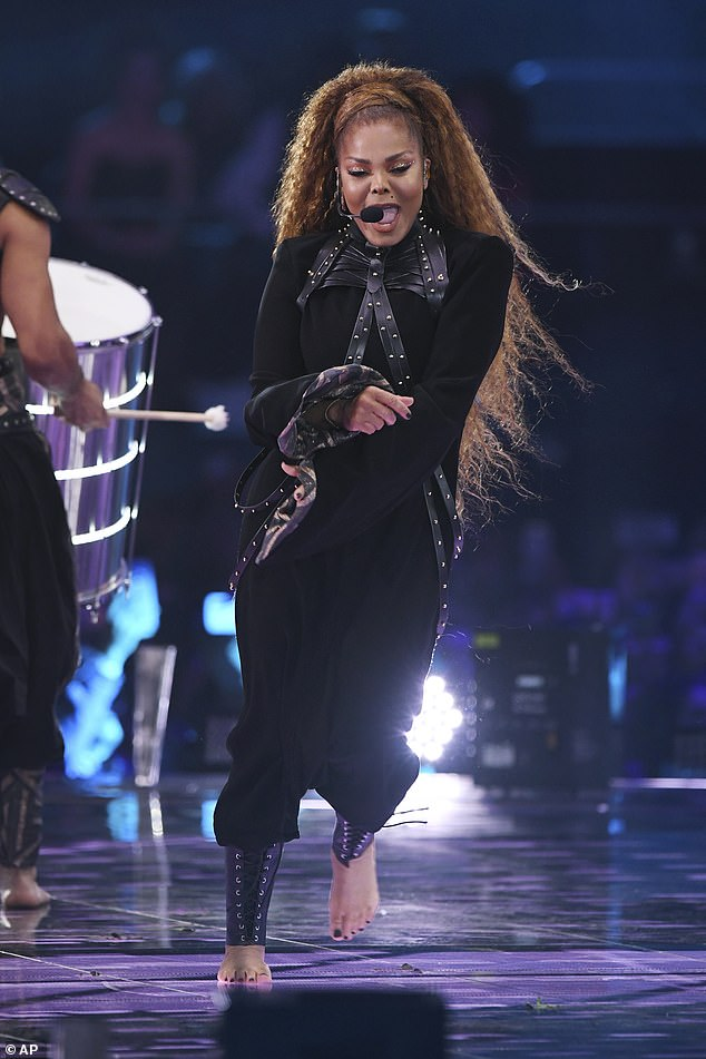 Janet on stage: The State of the World tour is the eighth tour by the 52-year-old singer, in support of her 11th studio album, 2015's Unbreakable
