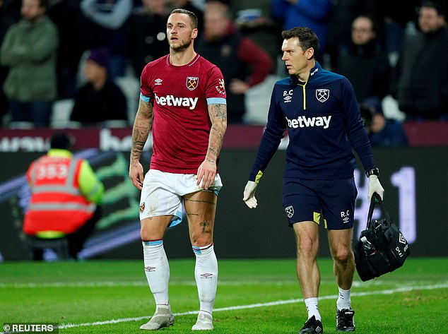 West Ham face Southampton on Thursday, with Marko Arnautovic hoping to feature