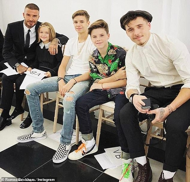 Family: David and Victoria are the proud parents of (L-R) Harper, Romeo, Cruz and Brooklyn