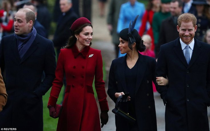 The Duchesses appeared to have put aside their differences. Their style on Christmas Day however, remained worlds apart