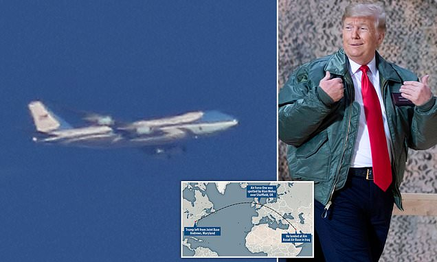 Image result for BRITISH Armature Photographer Spotted Air Force One On Trump Iraq Trip
