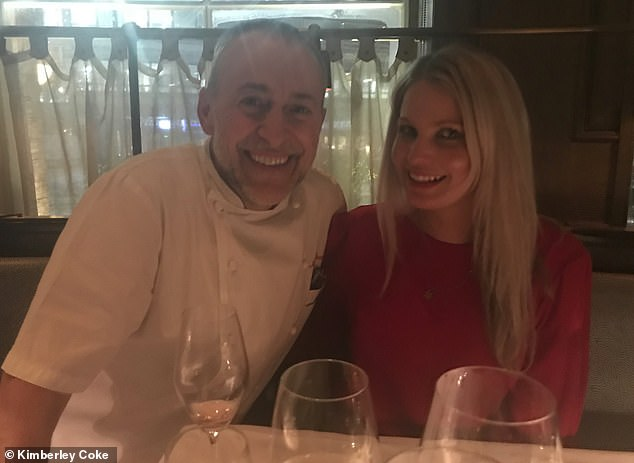 Kimberley'swork brings her into contact with famous TV chefs such as Marcus Wareing and Michel Roux Jr (pictured)