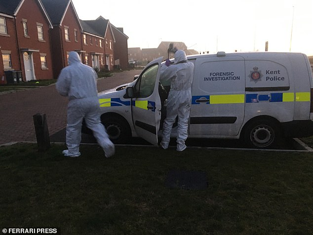 Forensic officers are working at a property in Margate after a woman was arrested on suspicion of murder following the death of two young children