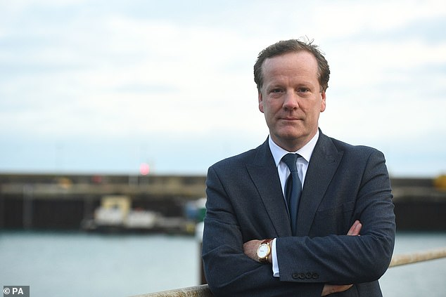 The 'blue-on-blue' attacks on Mr Javid were led by Dover MP Charlie Elphicke (pictured), who uses an article in today's Mail on Sunday to condemn the Home Secretary's 'half-hearted Dad's Army type set-up'