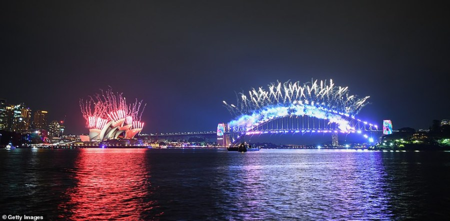 SYDNEY: The fireworks display culminated at midnight with '(You Make Me Feel Like) A Natural Woman' being played