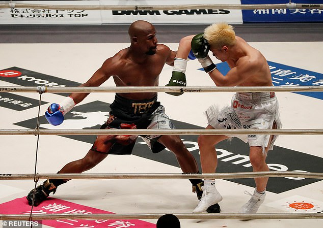 The Japanese kickboxer looks to defend himself as Mayweather launches another offensive