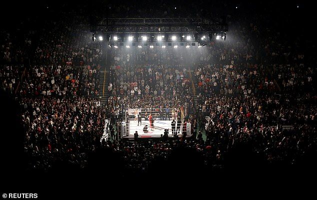 The two fighters clashed inside the amazing37,000-seater Saitama Super Arena in Japan
