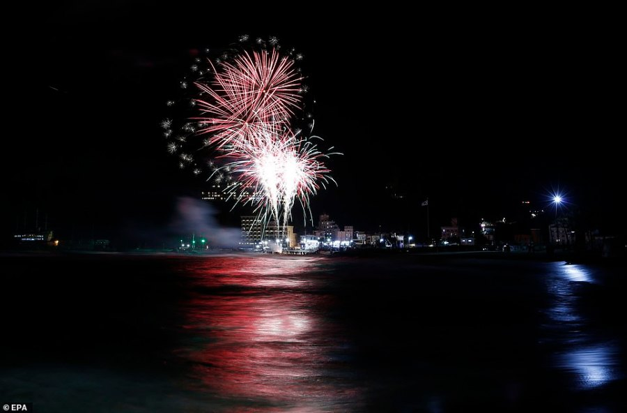 GANGNEUNG: Fireworks illuminate the sky over the Jeongdongjin beach in Gangneung, Ganwon-province, South Korea, during an event to celebrate the New Year