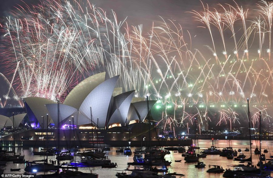 AUSTRALIA: Spectators at Sydney's Harbour Bridge were greeted with an array of colours as fireworks erupted into the sky