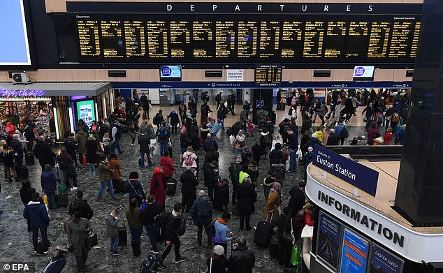 Commuters found that the cost of season tickets had risen by as much as 2,000 pounds in a decade. (Image of London Euston Station)