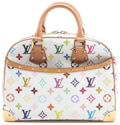 Similarities: Louis Vuitton has allegedly been trying to block the sale of Pooey Puitton, which they say looks too much like their own colorful monogram bags