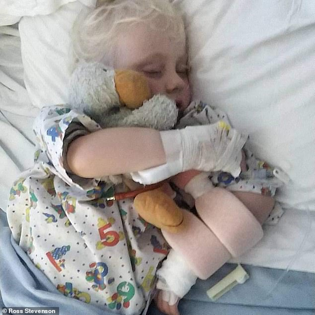 Chloe Stevenson, a three-year-old from Plymouth, Devon, has spent months receiving hospital treatment being left with a paralysed left arm after developing acute flaccid myelitis, a rare and poorly understood condition which can cause devastating nerve damage