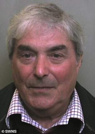 Richard Willis, 66, (pictured) spent four years plundering the savings of his elderly mother Audrey while she was seriously ill in a care home