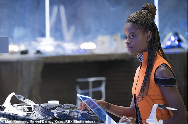 Shuri debut:Wright, 25, kicked off her year playing Jules Skateboarder in The Commuter in January, before playing the tech-savvy Shuri in Black Panther in February