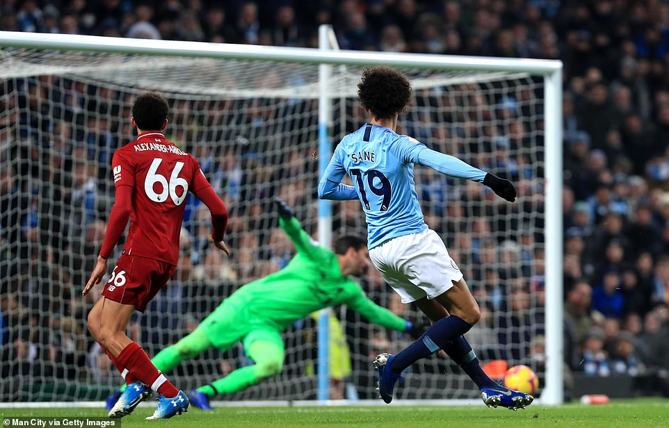 The German winger curved the ball past the helpless Alisson and the ball rebounded off the post and into the back of the net