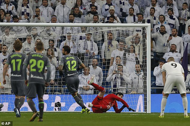 Willian Jose had Sergio Ramos muttering in his ear as he stepped up but he was not put off
