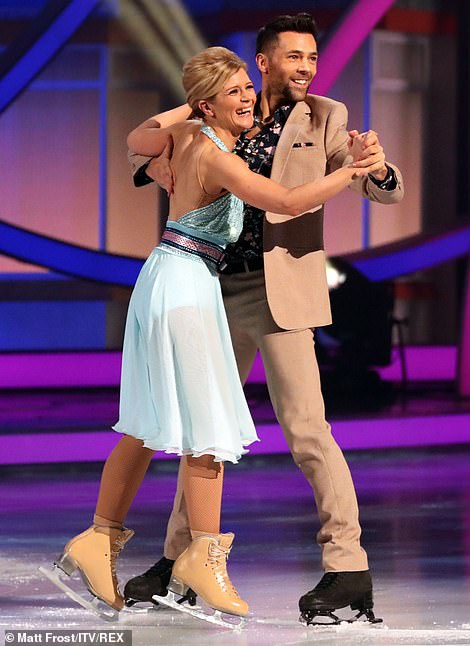 Kick-starter: Jane Danson was the first to dance for the judges, audience and viewers at home. The Corrie star aptly danced to On The Street Where You Live made famous by musical My Fair Lady, with her pro partner Sylvain Longchambon