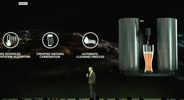 LG is hopping on the home-brewing bandwagon. At CES on Monday morning, the firm unveiled its first beer-making appliance, which will let users brew their own IPAs, pale ales, and malt beverages 'with little more than the push of a button'