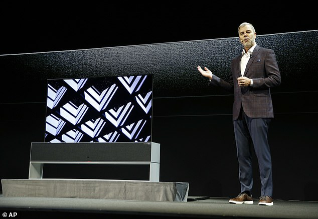 LG  introduced its incredible rollable OLED TV on stage in Las Vegas Monday morning, dubbed the LG Signature TV R. 'What science fiction directors imagined decades ago is now a reality,' the LG exec said