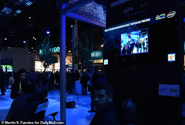 Intel demonstrated its system at the Las Vegas Convention Center during CES, showing how up to 10 different facial expressions can be used to direct its chair in different directions, and start or stop its motion
