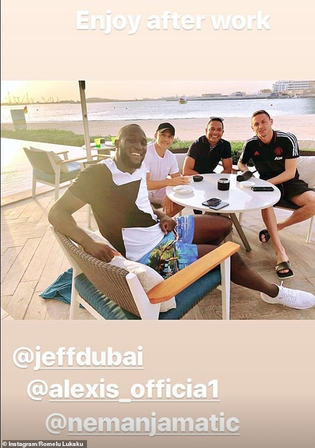 Lukaku also posted the same snap on his Instagram account as United's trip came to close