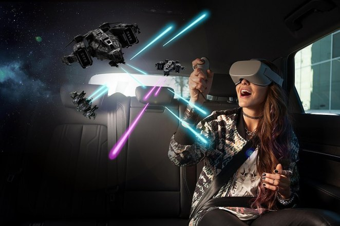 Audi and Disney grabbed attendees' attention with their debut of a new 'Holoride' system that aims to bring virtual reality to every car, including Ford, Mercedes and other models. The system tailors content to the length of each user's ride