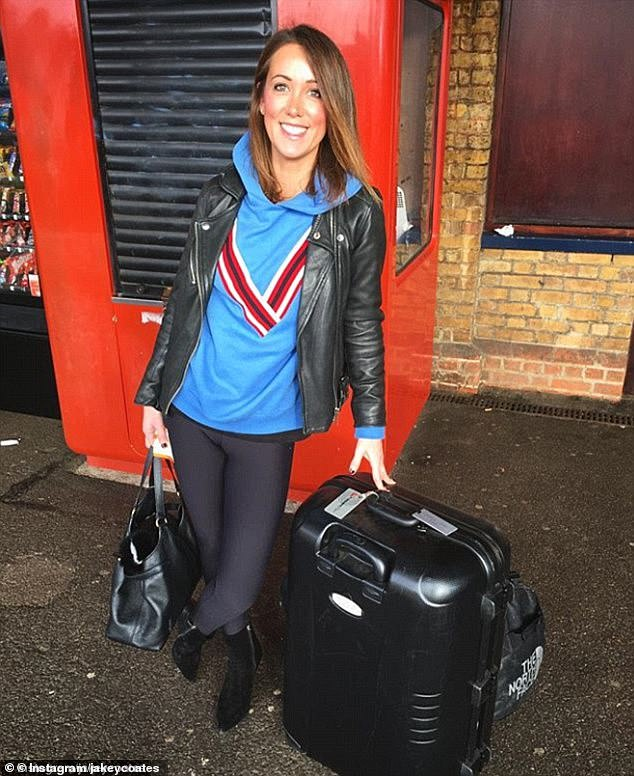 It is understood Ms Elsby, pictured, and Mr Coates have moved out of the property they were living at in the upmarket village Hersham in Surrey