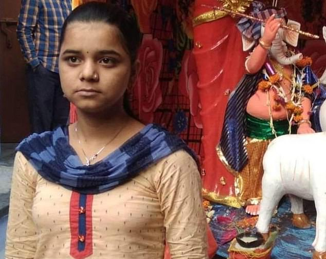 A picture of the alleged victim, known as Anjana, has been widely circulated by protesters who are walking with her picture on placards as they demand justice