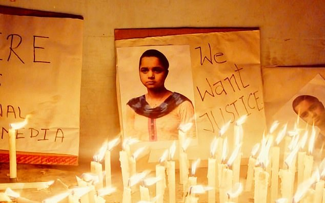 Candlelit vigils were held on Tuesday and Wednesday night in the holy city of Gaya after police found the body on Sunday