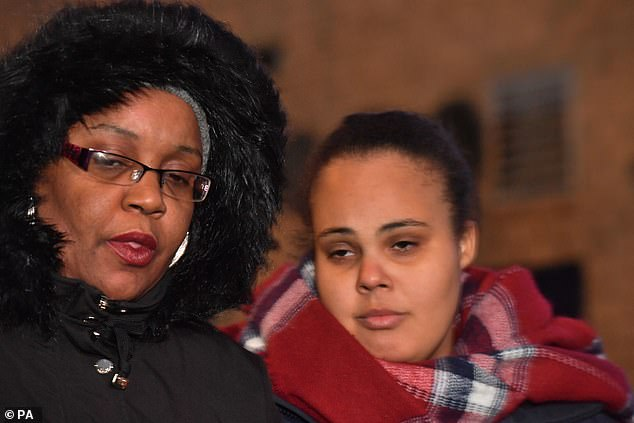 Jayden's family (pictured above mother and sister) have said he deserves a fair chance at justice