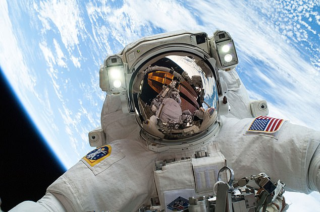 Astronauts who spend several months at the international space station have a significant reduction in the size and density of the main muscles in their spine after returning to Earth, reports a study in Spine. Pictured, British astronaut Major Tim Peake